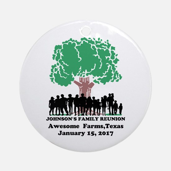 Reunion Personalized Round Ornament