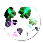 Blooming space Round Car Magnet