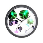 Blooming space Wall Clock