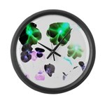Blooming space Large Wall Clock