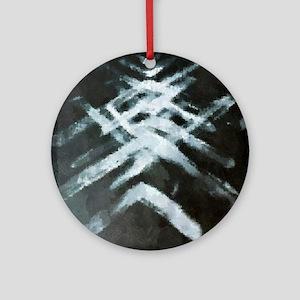 Chevron-X-Ray chaos Round Ornament