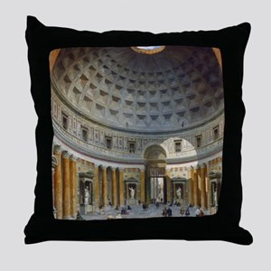Interior of the Pantheon Rome Throw Pillow