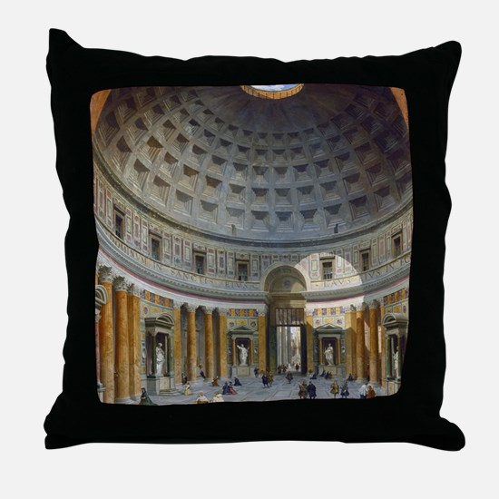 Interior of the Pantheon Rome Throw Pillow