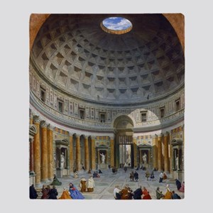 Interior of the Pantheon Rome Throw Blanket