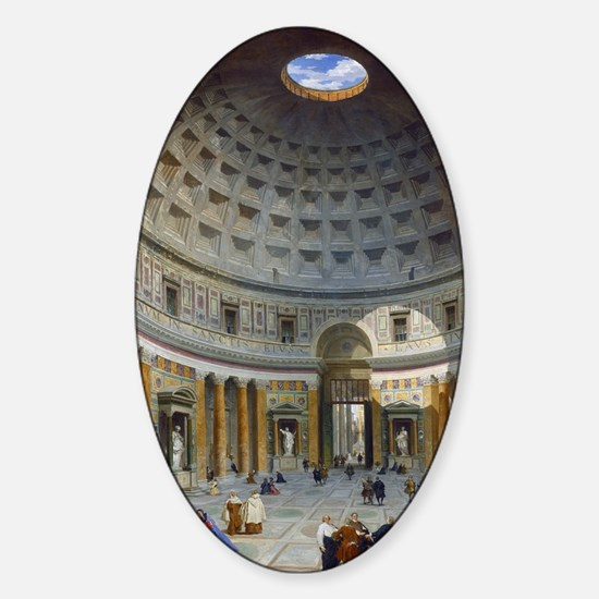 Interior of the Pantheon Rome Sticker (Oval)