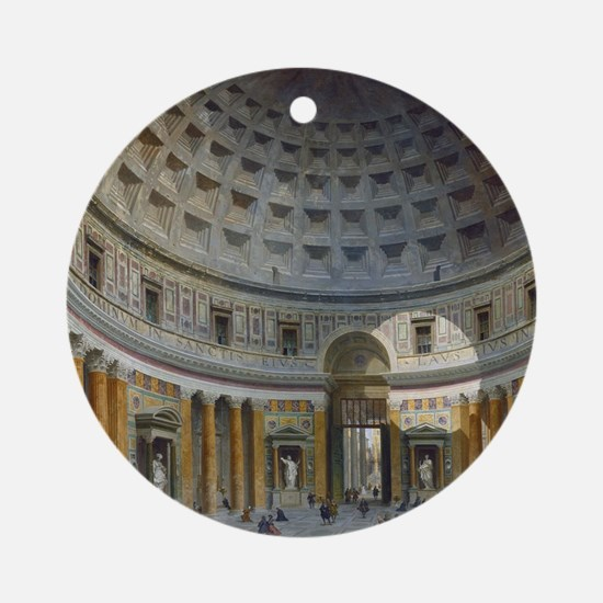 Interior of the Pantheon Rome Round Ornament