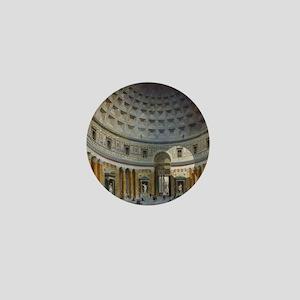 Interior of the Pantheon Rome Mini Button