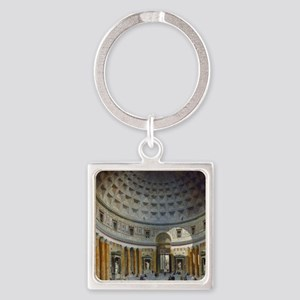 Interior of the Pantheon Rome Square Keychain