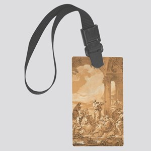 Saint Paul Preaching in Athens Large Luggage Tag