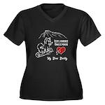 Icelandic Sh Women's Plus Size V-Neck Dark T-Shirt
