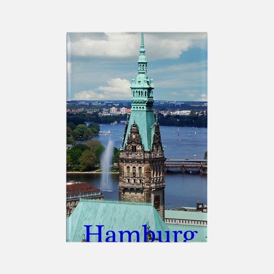 Hamburg Town Hall Rectangle Magnet