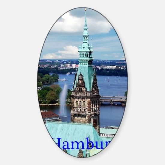 Hamburg Town Hall Sticker (Oval)