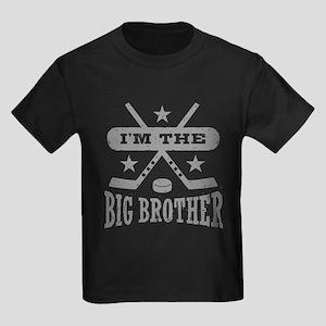 I'm The Big Brother Hockey Kids Dark T-Shirt
