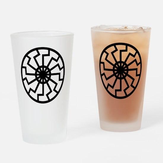Black Sun Drinking Glass