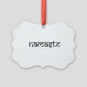 Namaste Yoga Ohm Picture Ornament