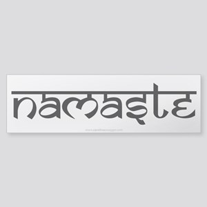 Namaste Yoga Ohm Sticker (Bumper)
