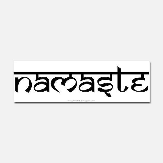 Namaste Yoga Ohm Car Magnet 10 x 3
