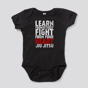 Learn Jiu-Jitsu - Cafe - Black Baby Bodysuit