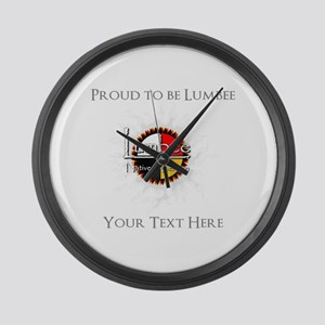 Personalized Proud to be Lumbee Large Wall Clock