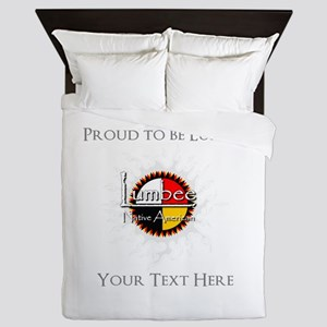 Personalized Proud to be Lumbee Queen Duvet