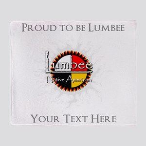 Personalized Proud to be Lumbee Throw Blanket
