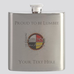 Personalized Proud to be Lumbee Flask