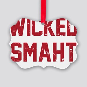 Wicked Smaht Picture Ornament