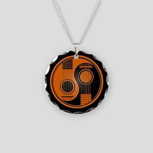 Orange Yin Yang Acoustic Guitars with Black Back N