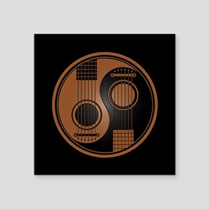 Brown Yin Yang Acoustic Guitars with Black Back St