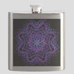 Pretty Purple Fractal Flask