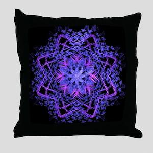 Pretty Purple Fractal Throw Pillow