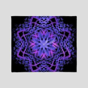 Pretty Purple Fractal Throw Blanket