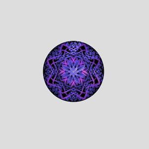 Pretty Purple Fractal Mini Button