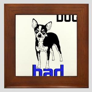 OYOOS Dog Bad design Framed Tile