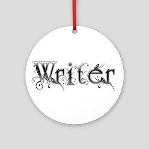 Writer Ornament (Round)