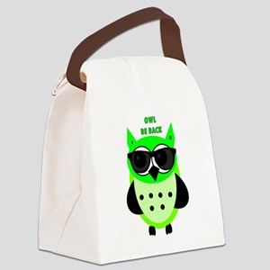 Owl Be Back Canvas Lunch Bag