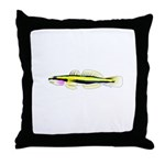 Cleaner Goby Throw Pillow