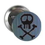 "Skull 2.25"" Button (10 pack)"