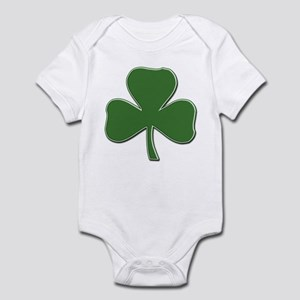 Crossed Stitched Look Shamrock Infant Bodysuit