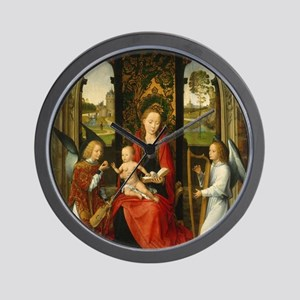 Madonna and Child with Angels Wall Clock