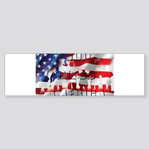PATRIOTIC GOD BLESS AMERICA Bumper Sticker