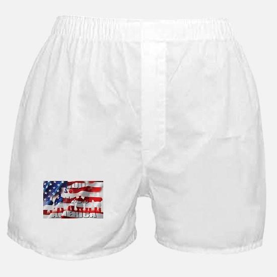 PATRIOTIC GOD BLESS AMERICA Boxer Shorts