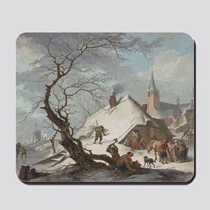 Hendrik Meyer - A Winter Scene Mousepad