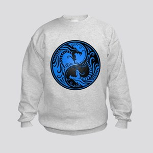 Blue and Black Yin Yang Dragons Jumpers