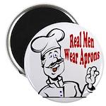 Real Men Wear Aprons Magnet