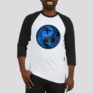 Blue and Black Yin Yang Dragons Baseball Jersey