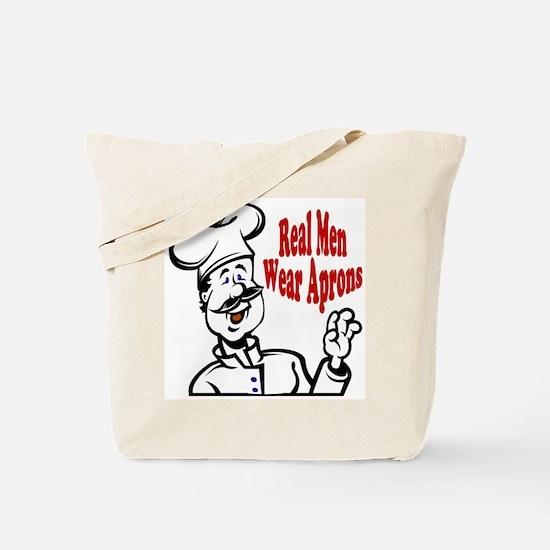 Real Men Wear Aprons Tote Bag
