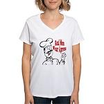 Real Men Wear Aprons Women's V-Neck T-Shirt