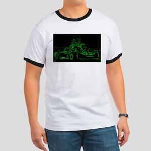 Kart Racer in Green T-Shirt