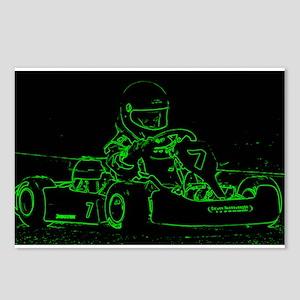 Kart Racer in Green Postcards (Package of 8)